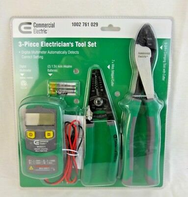 Commercial Electric 3-piece Electricians Tool Set
