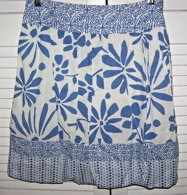 American Eagle Outfitters BUBBLE SKIRT 2 blue/white print SMALL XS ()