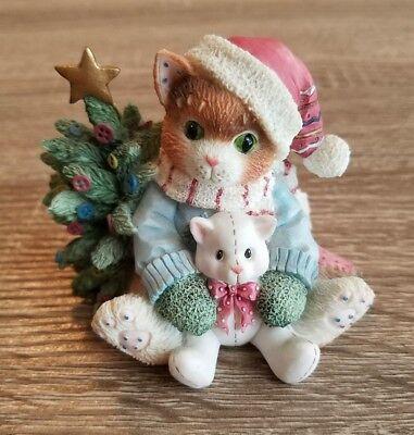 Enesco Calico Kittens Figurine - We Wish You A Merry Christmas - 932418