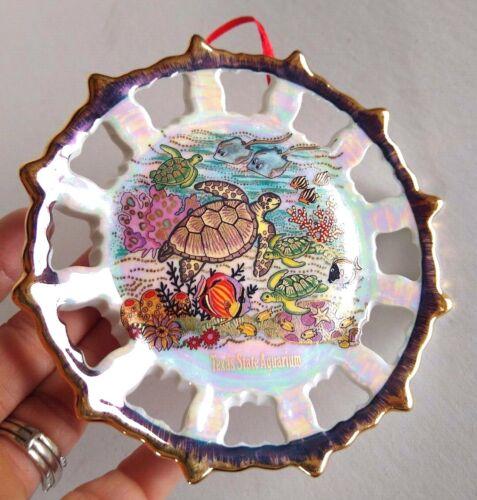 Texas State Aquarium Sea Turtle Ocean Ceramic Plaque Wall Hanging Plate Travel