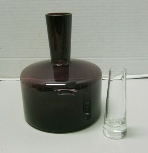 Amethyst Glass Modern Decanter With Clear Glass Shooter Shot Glass Stopper