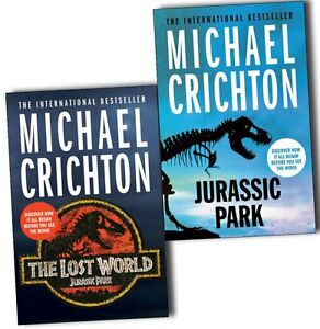 Michael Crichton Jurassic Park 2 Books Collection Pack Set The Lost World