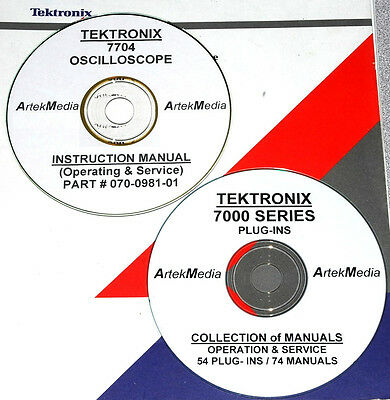 Tektronix 7704 54 Plug-ins 75 Manual Set