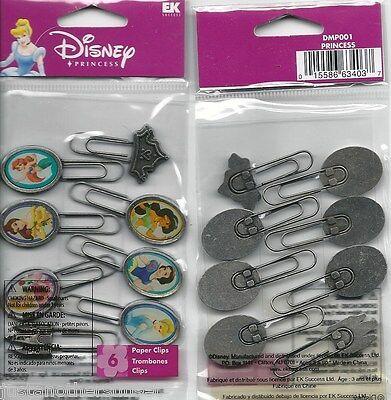 Disney Princess Paper Clips Office School Scrapbooking Supply Ariel Belle Aurora