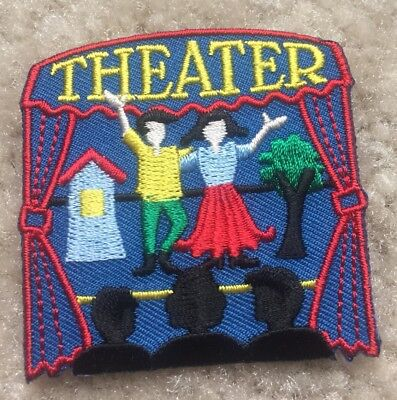Theater Visit Field Trip Stage Play Acting Curtains Fun Patch Girl Scout Badge