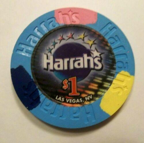 HARRAHS Casino $1 Poker Blackjack Chip Las Vegas Nv ~ hotbid22