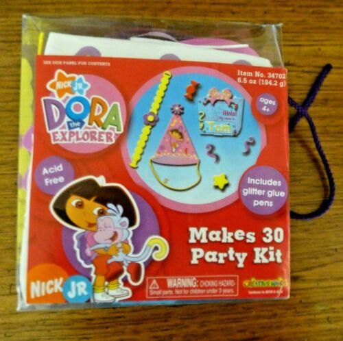 Vintage 2 boxes of Nick Jr Dora The Explorer Makes 30 Party Kit  Kids  Ages 4+