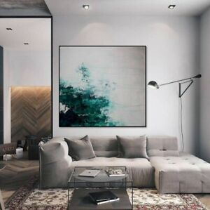 Large Modern Abstract Painting  Artist Hand-painted  Wall Art