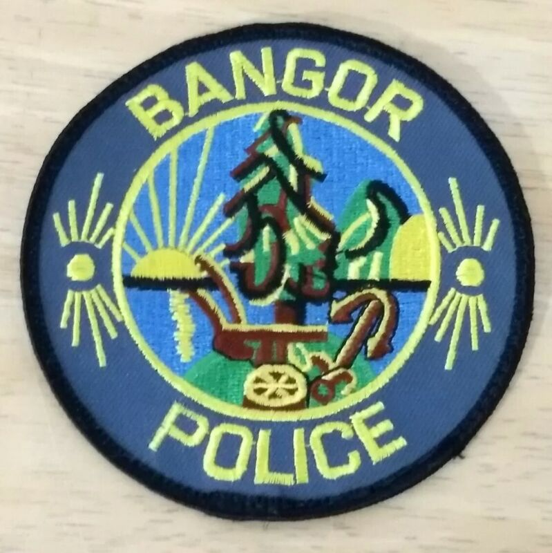 Bangor Maine Round Police Department Patch BPD