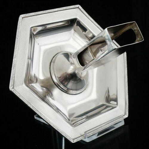 Art Deco Sterling Silver Combination Ashtray & Matchbox Holder, Mappin & Webb
