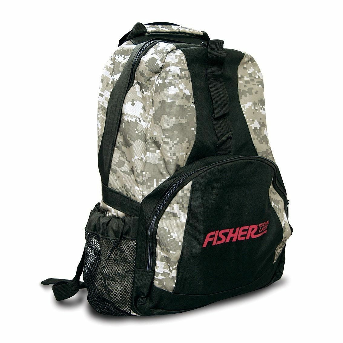 Fisher Metal Detector Digital Camo Style Backpack Padded Straps FCBACKPACK