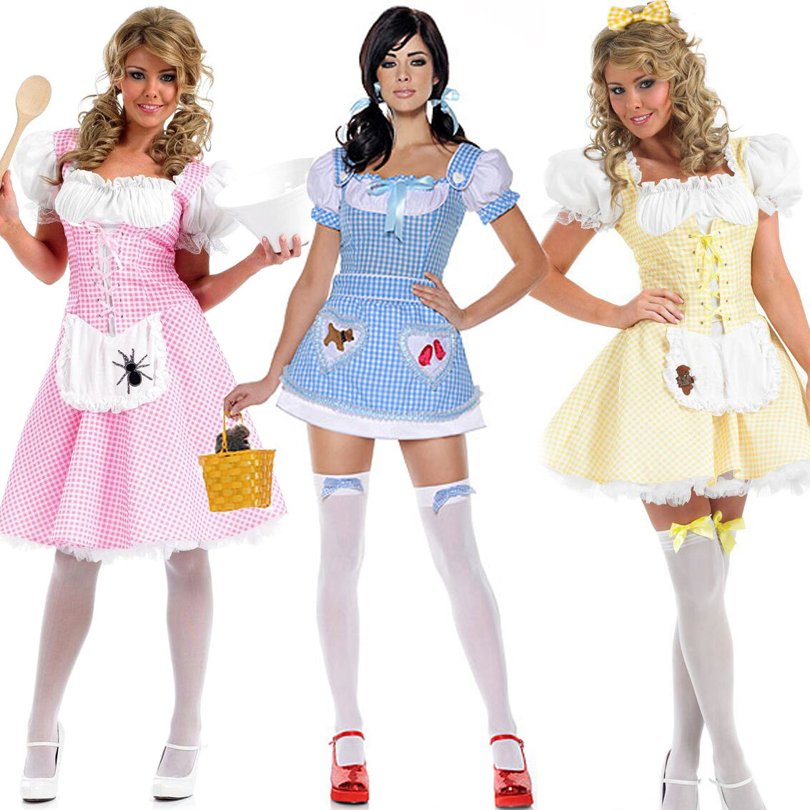 Womens Country Girl Adult Ladies Book Day TV Film Fancy Dress Costume Dorothy Oz