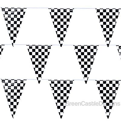 Checkered Flags Banner 500 ft String Pennant Car Racing Party Supplies 5- 100 ft - Checkered Flag Pennant Banner