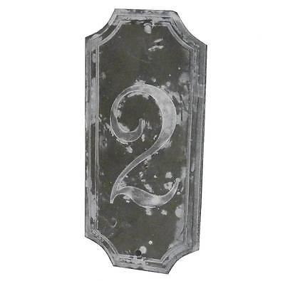style ancienne plaque numero 2 de porte portail d entée de jardin murale en fer