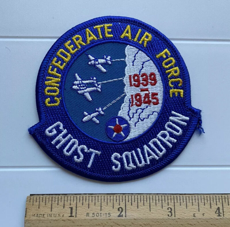 CAF Confederate Air Force Ghost Squadron 1939-1945 Blue Embroidered Patch
