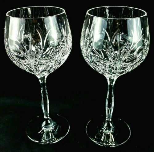 "Noritake ROTHSCHILD Crystal Water Goblets Glasses 7 5/8"" Cut MINT *Sold in Pairs"
