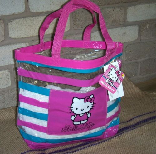 Hello Kitty Clear Tote Bag / Beach Bag 16 Inches Wide  NWT