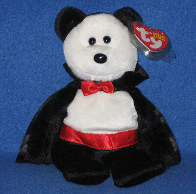 TY BARON VAN PYRE the HALLOWEEN BEAR BEANIE BABY - MINT with MINT TAGS](Beanie Baby Tag Halloween)