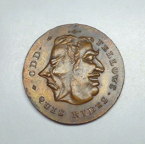 ND (c. 1790) Great Britain-Middlesex Odd Fellows Halfpenny Token, DH-804c.