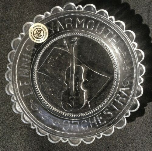 Dennis Yarmouth Orchestra Pairpoint Glass Cup Plate D-Y High School String Music