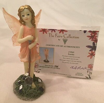 DEZINE ~ The Fairy Collection ~ EARTHA  #5942 ~ Limited Edition Figurine w COA