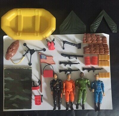 VINTAGE A-TEAM ACTION FIGURES AND ACCESSORIES JOB LOT BUNDLE (NO BOX )RARE