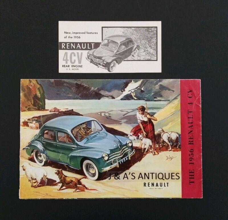 1956 RENAULT 4 CV Brochures ~ Auto