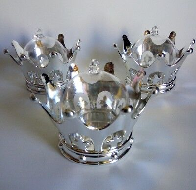 Silver Baby Shower Decorations (12pcs Silver Crown/Dome, Decor Favor Box keepsake Baby shower, Wedding,)