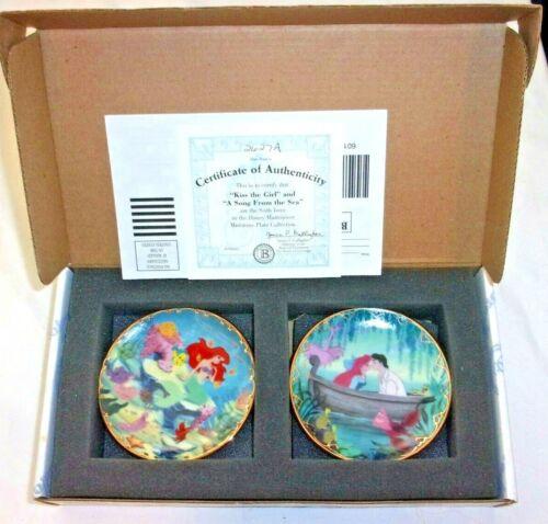Disney Miniature Collectible Plate Bradford Exchange - set of 2 - LITTLE MERMAID
