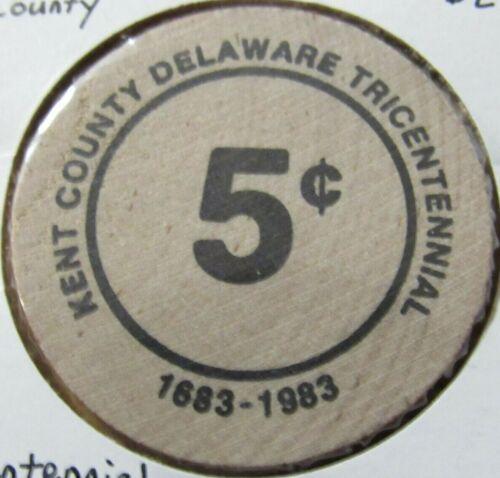 1983 Kent County, DE Tricentennial Wooden Nickel - Token Delaware