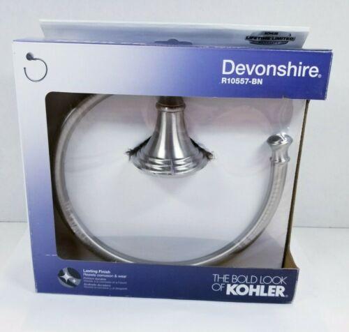 KOHLER - DEVONSHIRE TOWEL RING - BRUSHED NICKEL - R10557-BN
