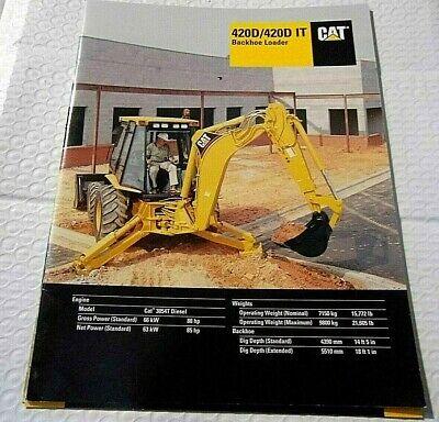Factory 2001 Cat Backhoe Loader 420d 420d It Dealership Spec Brochure Manual