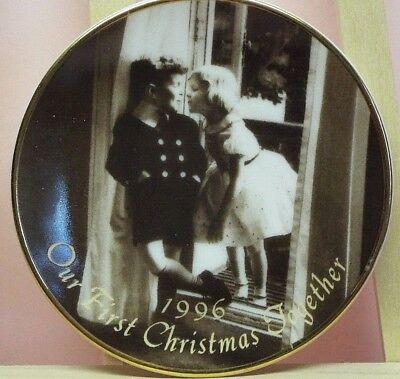 Hallmark Our First Christmas Together Keepsake Ornament Plate 3.25