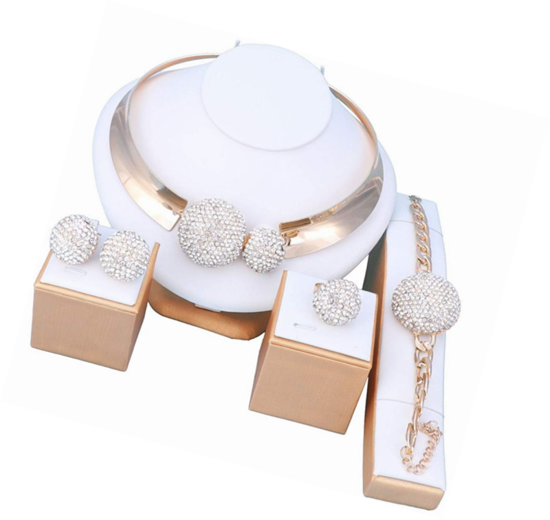 Sets for Women- Wedding Brides 18k Gold/Silver Plated- Prom