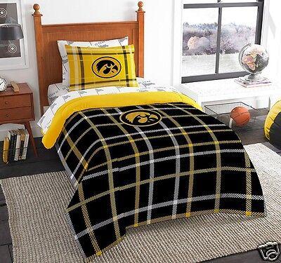 Iowa Hawkeyes bedding comforter 5pc 64x86 Twin size sham sheets FREE SHIPPING  ()