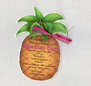 Hawaiian Birthday Invitations with great invitation sample