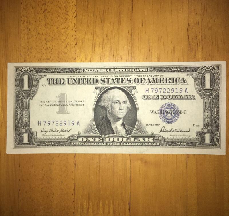 $1 Silver Certificate Crisp Uncirculated 1957