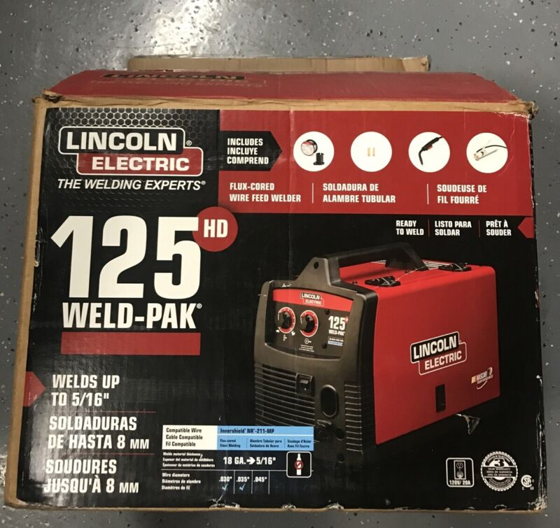 Lincoln Electric K2513-1 Weld Pak 125HD 12102 Open Box