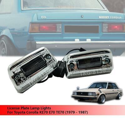 1979-1983 TOYOTA COROLLA KE70 KE71 KE72 KE75 SR5 CHROME REAR LICENSE PLATE LIGHT