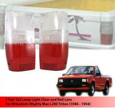 REAR TAIL LIGHT LENS CLEAR/RED For Mitsubishi Mighty Max L200 Triton 1986 - 1996