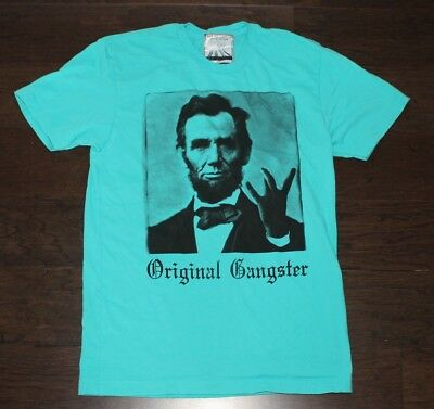 inal Gnagster KID DANGEROUS T-Shirt Men's SMALL S Blue ABE (Abraham Lincoln, Kid)
