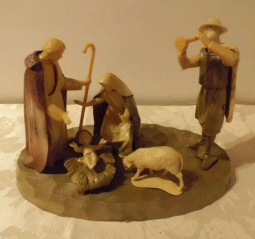 Vintage Plastic Nativity Christmas Holiday Seasonal Unusual and from Italy