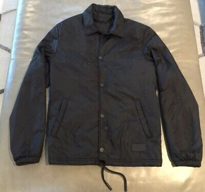 Acne Studios Tony Face W Puffer Insulated Coaches Jacket Black 46 36 Small $395
