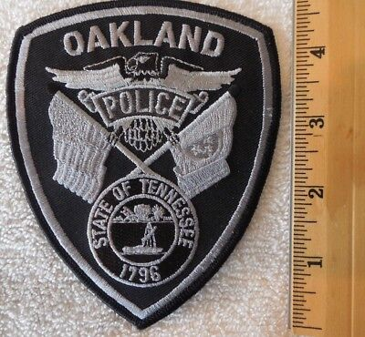 OAKLAND TENNESSEE POLICE PATCH (FIRE, HIGHWAY PATROL, EMS)