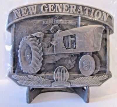 *John Deere 4010 Tractor Pewter Belt Buckle 40th Anniversary 2000 Ltd Ed 1/2500