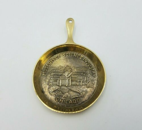 Museum of Science Industry Chicago Souvenir Trinket Pan Wall Hanging Decor Brass