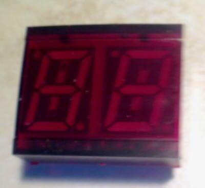 Litronix Dl-527 2 Digit 7 Segment Red Led Display - Nos