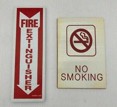 Lot Of 12 4x12 Rigid Plastic Arrow Fire Extinguisher 4 No Smoking Adhesive