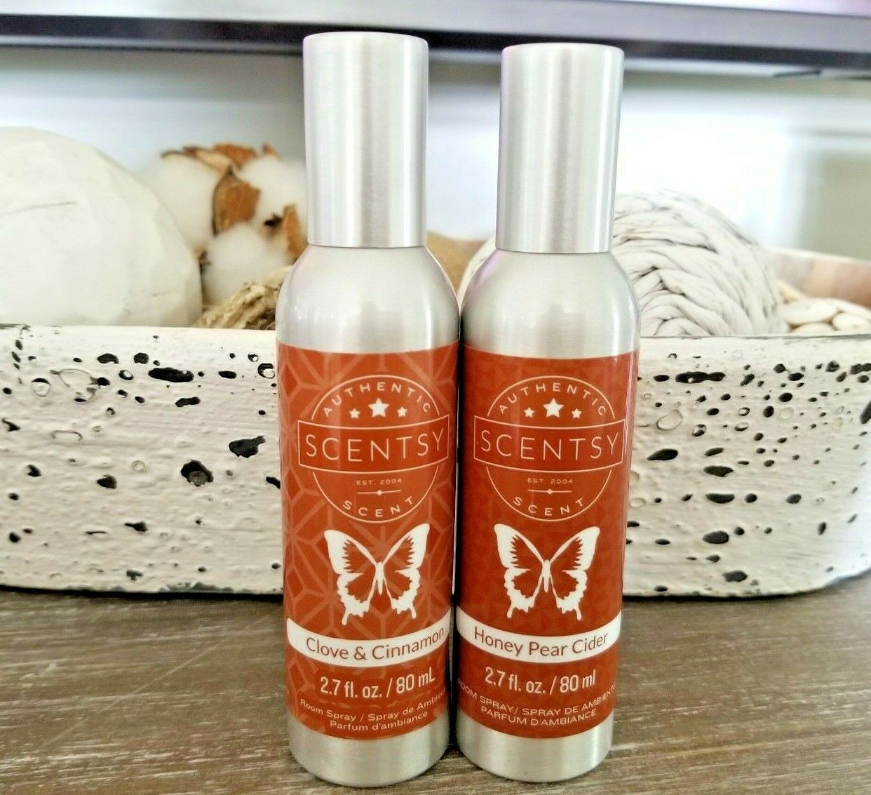 SCENTSY Lot Of 2 Room Sprays CLOVE CINNAMON And HONEY PEAR CIDER New - $19.87