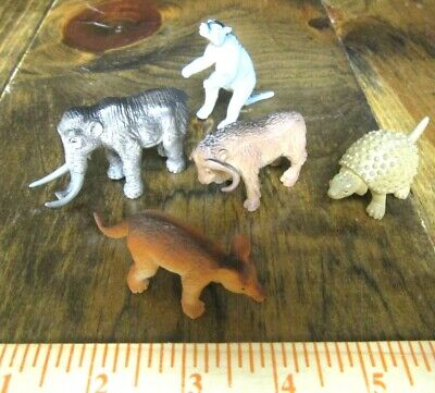 5 piece prehistoric mammal collection--2 inch model dinsoaurs